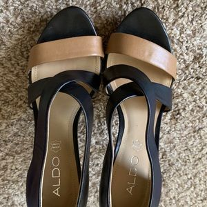 Aldo Black and Tan high heels, size 37